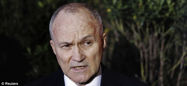 Tactics: New York Police Department Commissioner Ray Kelly speaks to the media about a foiled terrorist plot in the financial district on Wednesday