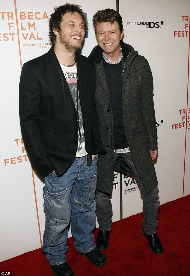 Family support: One of Bowie's last red carpet appearances came as he supported son Duncan Jones at the premiere of his movie Moon in 2009