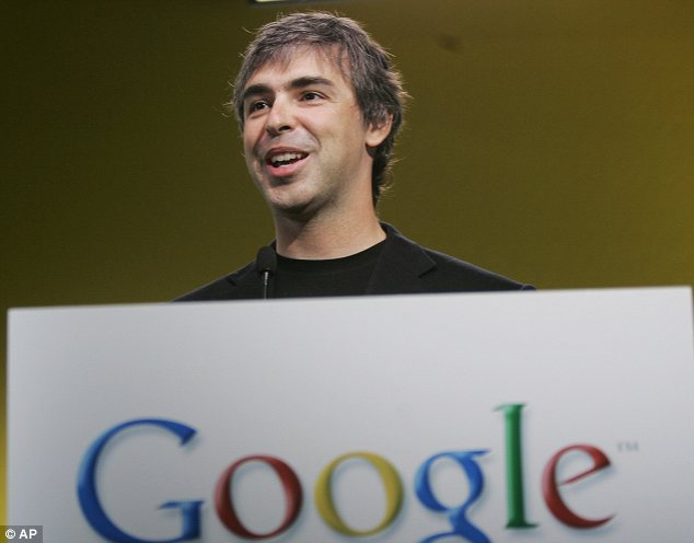 Blunder: A press release was prematurely issued on Thursday with the line 'awaiting quote from Larry' in reference to Google co-founder Larry Page