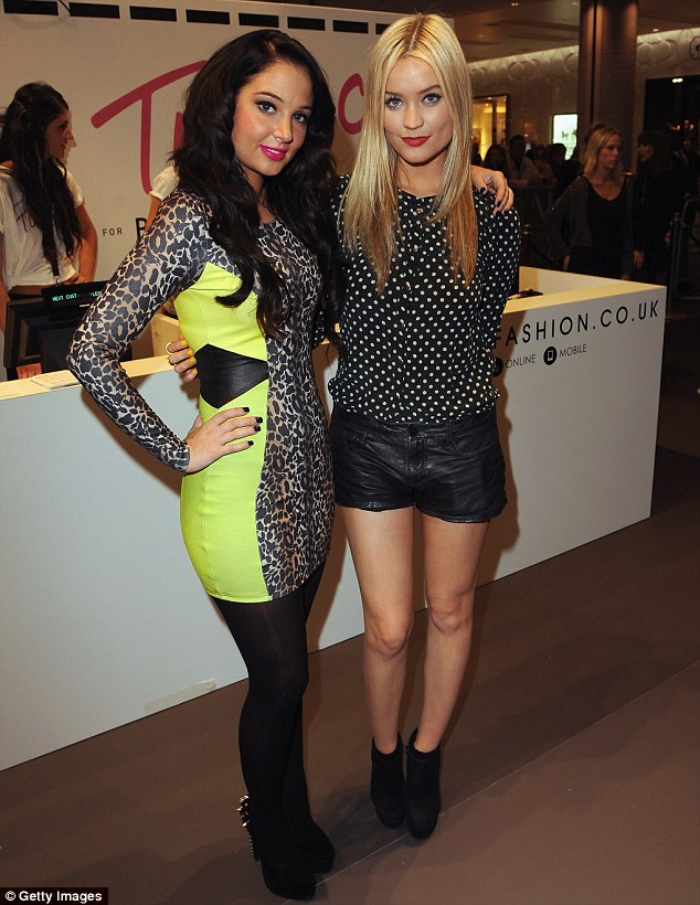 Leggy: Tulisa was joined by TV presenter Laura Whitmore