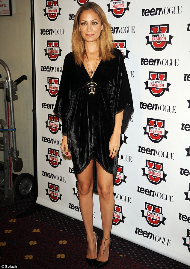 Modern twist: Nicole Richie went for a high-low look for the 7th Annual Teen Vogue Fashion University event in New York City on Saturday