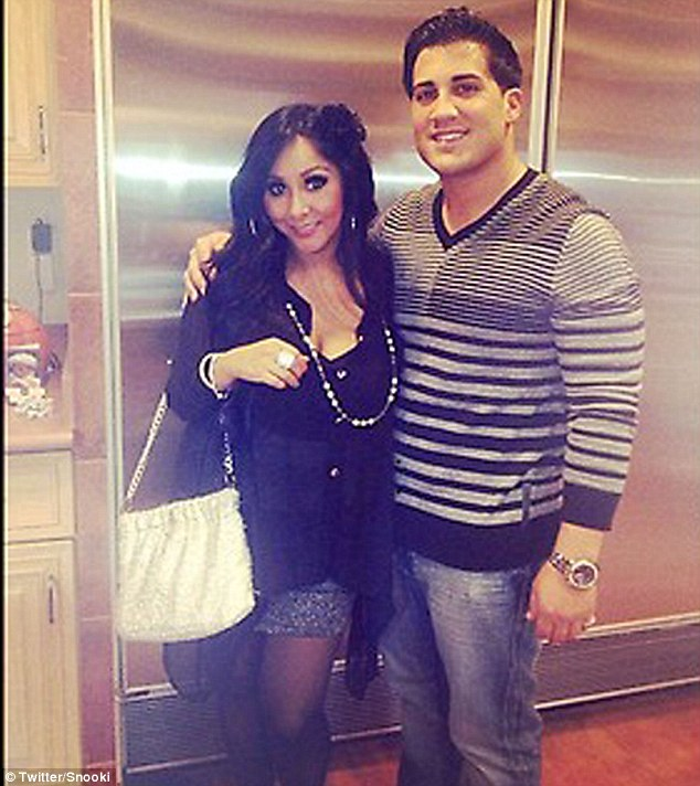 1fbef930abd Proud parents  Snooki and her fiance Jionni welcomed baby Lorenzo into the  world on August