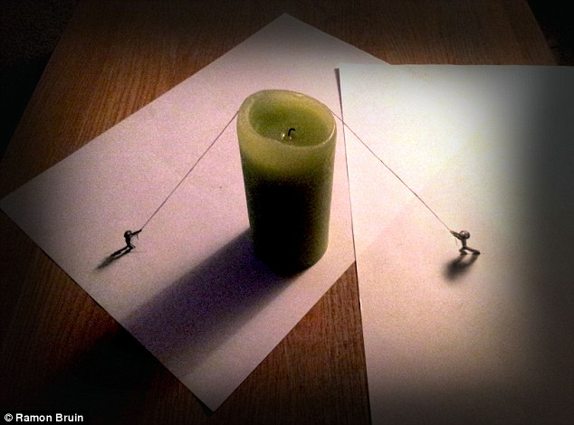 A clever use of a prop, like here with a candle, really helps to bring life to a static drawing