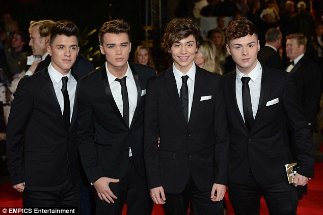They could get used to this! X Factor boy band Union J were also ecstatic to be at the event - and dressed as dapper as they could
