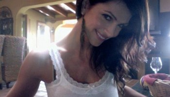 Fake: Bikini model Denise Milani had her identity used by a drug smuggling gang who allegedly lured the physics professor into smuggling a suitcase of cocaine