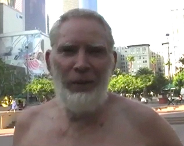 Friend of the family: The video also claimed this shirtless man was another of their unknown chums