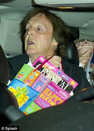Sir Paul McCartney and Nancy Shevell celebrate Beatrice ...