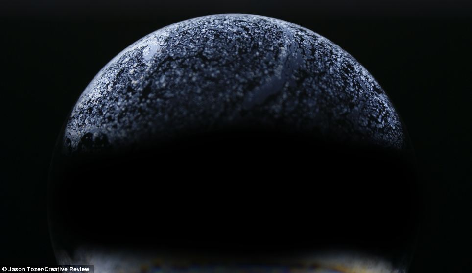 Big and small: The surfaces of the bubbles and sizes varied greatly