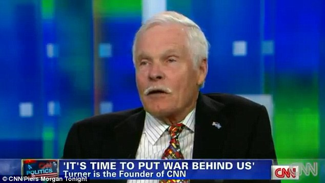 Army suicides: CNN founder Ted Turner, pictured, has claimed that military suicides are positive because they highlights how humans are 'born to love and help each other, not to kill'