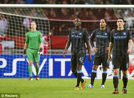 Sinking feeling: City have found the Champions League hard going