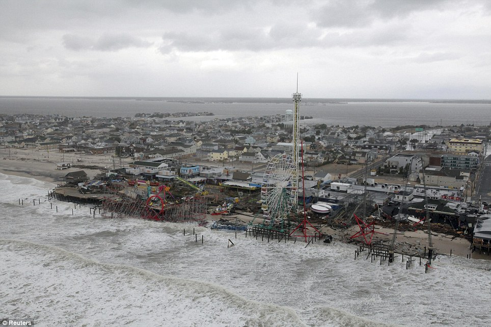 Just still there: The damage caused by Hurricane Sandy to the New Jersey coast, in a photo taken during a search and rescue mission