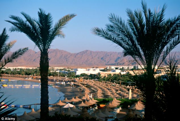 Beachside resort Sharm el-Sheikh (pictured) is thought to have been the target of five Muslim terrorists who were arrested by Egyptian counter terror police