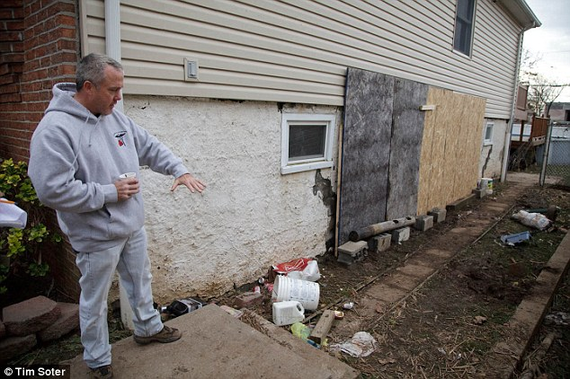 Brother and uncle Neil Filipowicz standing outside the home in Staten Island
