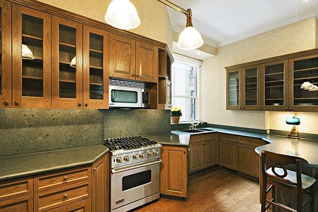 The apartment's spacious kitchen