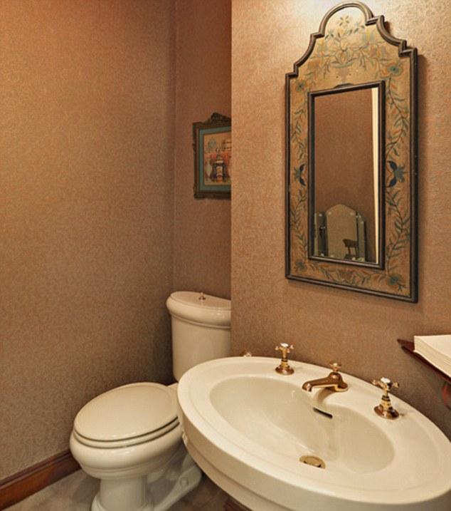 The star's private bathroom