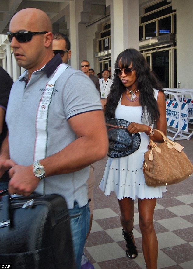 Planning ahead: Naomi Campbell arrives at Jodhpur days before her boyfriend Vladimir Doronin's 50th birthday