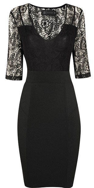 Black dress with lace collar: £45