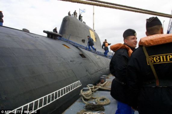 A Russian attack sub was discovered near the U.S. coastline but defense officials said it posed no threat