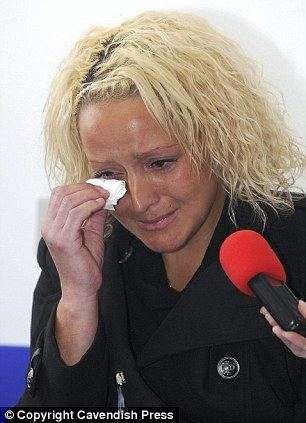 Turmoil: Gemma Wilkinson weeps as she makes an appeal for information about her missing daughter