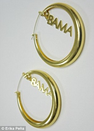 Gold endorsement: The $32 earrings designed by Erika Peña