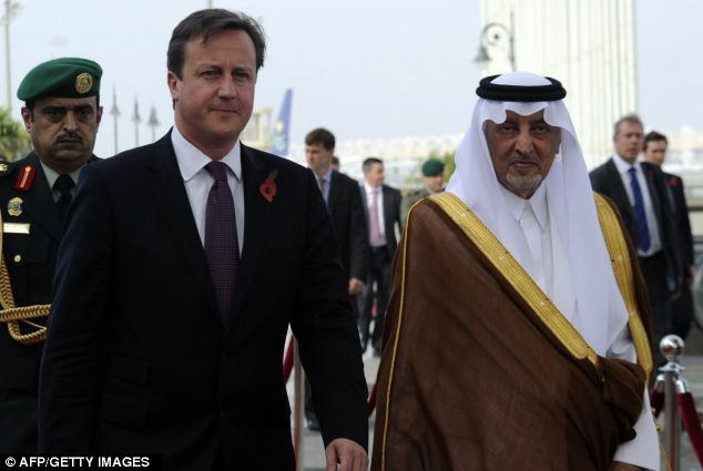 Mr Cameron arrived in Jeddah in Audi Arabia today, where he was welcome by Prince Khalid bin Faisal bin Abdulaziz