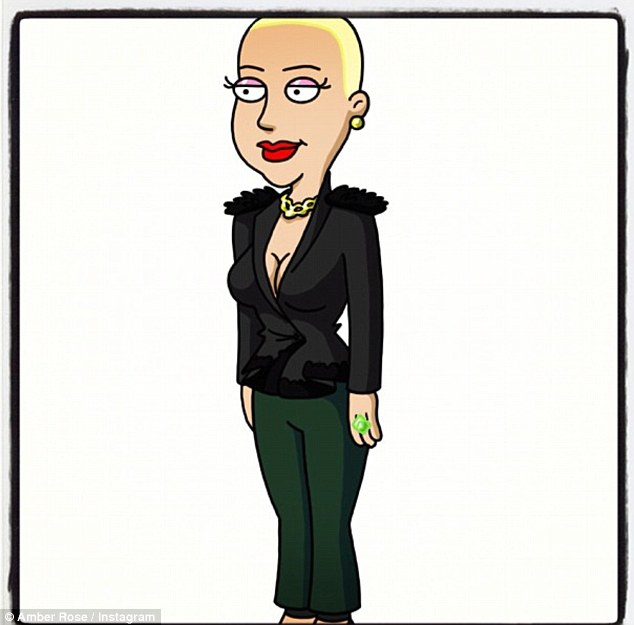 Family Woman: Amber tweeted this cartoon drawn by one of Seth MacFarlane's animators