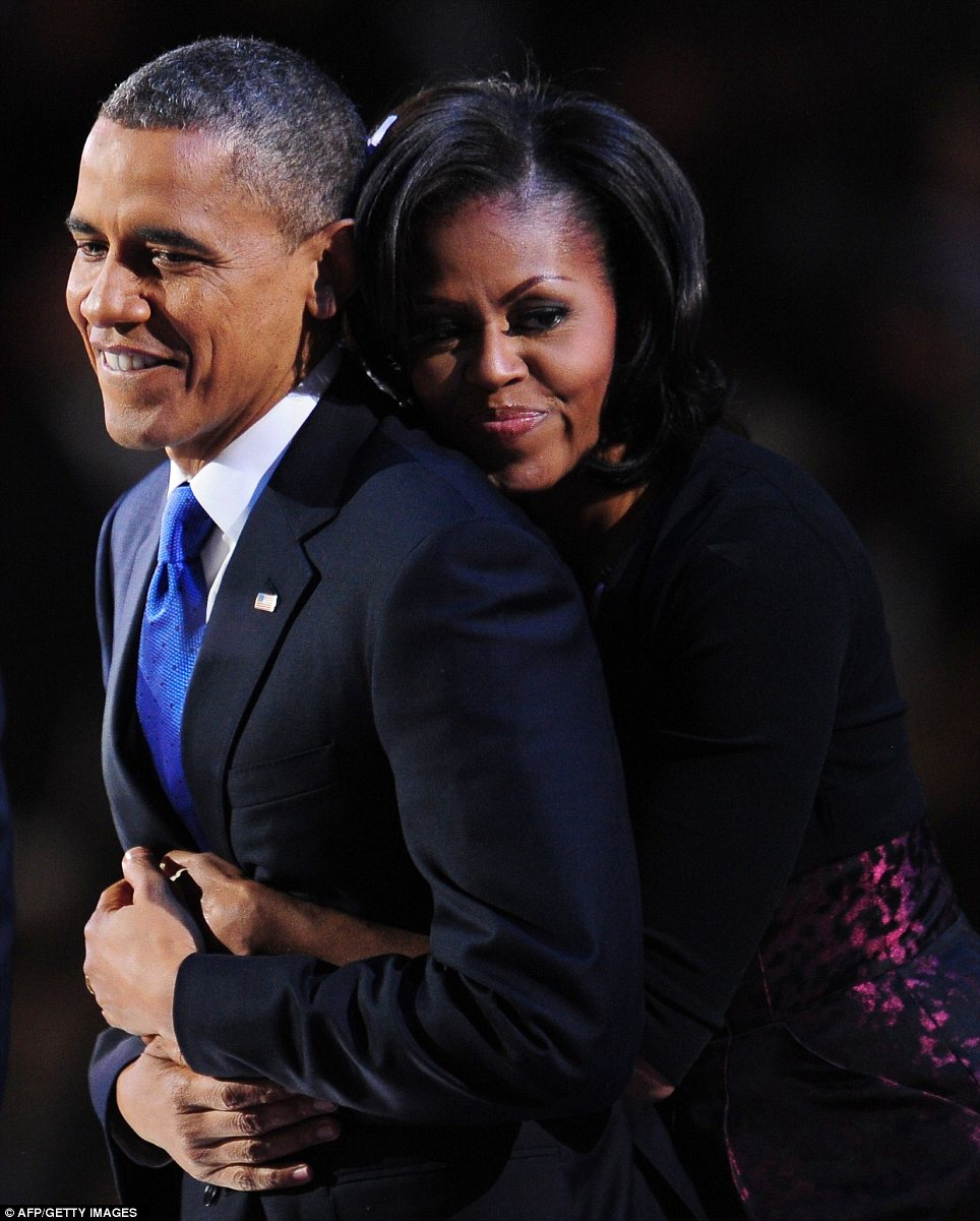 Devotion: Michelle Obama clearly never lost faith in her husband's political skills