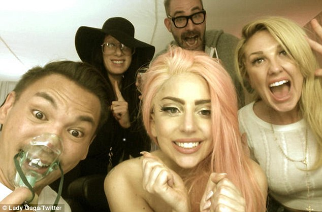 'The joy when freedom prevails!' Gaga tweeted this picture after Obama was announced to have won