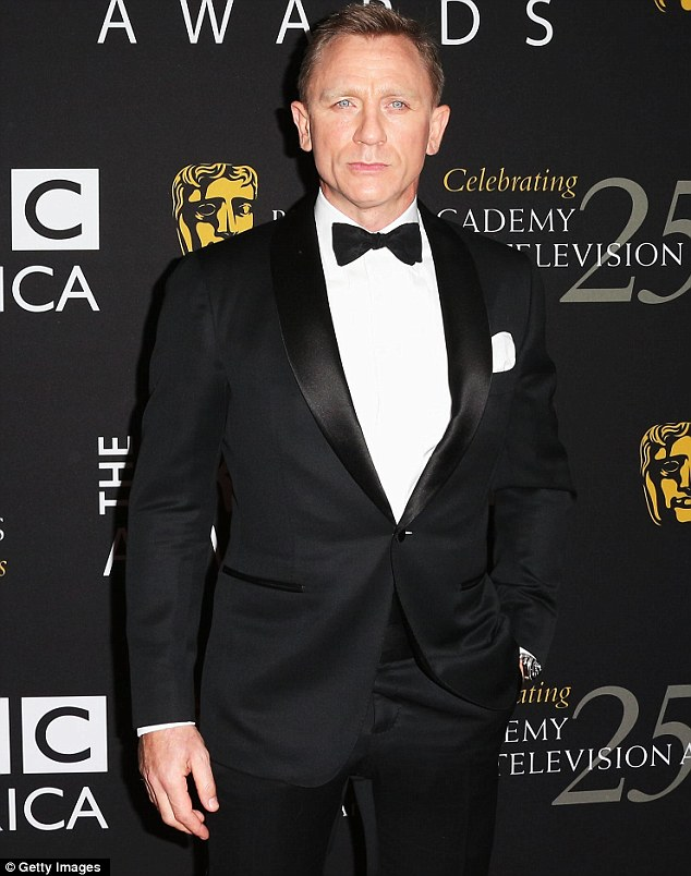 Shaken and stirred: Daniel Craig will be shocked even his tuxedo was not enough to win the night