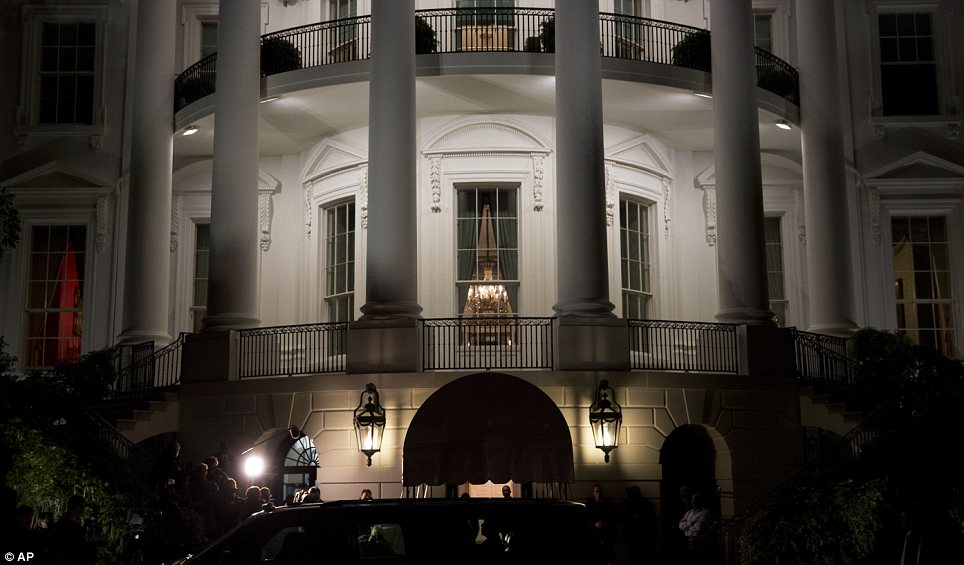 Iconic: The White House will remain home to the Obama family, rather than the Romneys