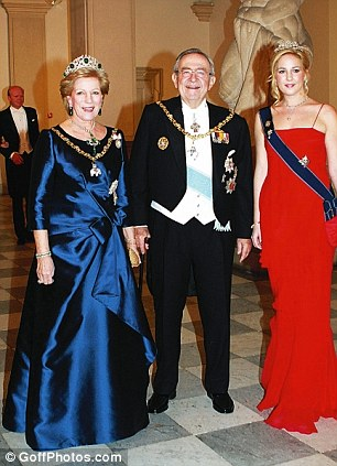 The Danish Royal Family and their guests arrive for a Galadinner at Christiansborg Palace