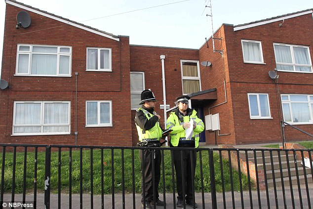 Scene: The bodies of murdered teenagers Kimberley Frank and Samantha Sykes were found at Miss Frank's flat in Wakefield