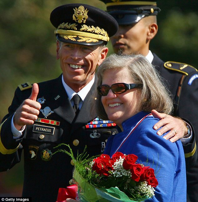 Couple: But Petraeus has publicly confessed to cheating on his wife Holly, right