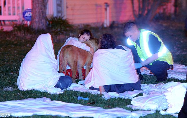 Treatment: Given the time of the late-night fire, many escaped from their homes wearing pajamas and grabbing their pets