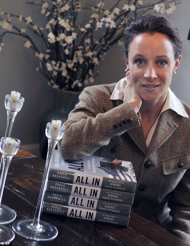 Special access: Broadwell, who spent three years doing research for her book, had extensive access to Petraeus in Afghanistan