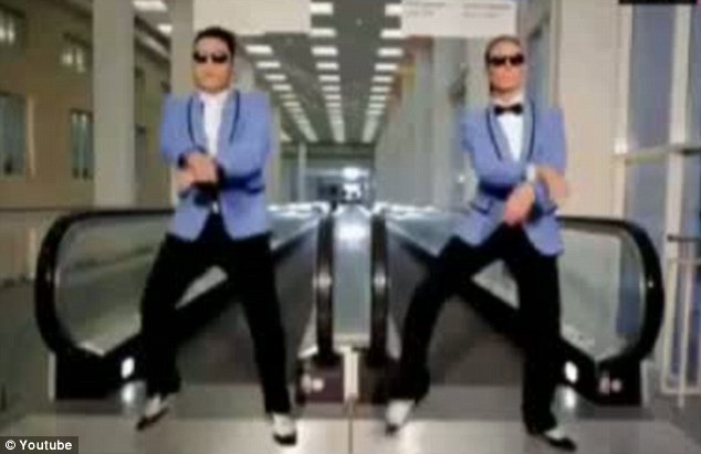 Clip clop: The 39-year-old model performed the famous dance moves with the record breaking rapper in a sketch shown at the awards show