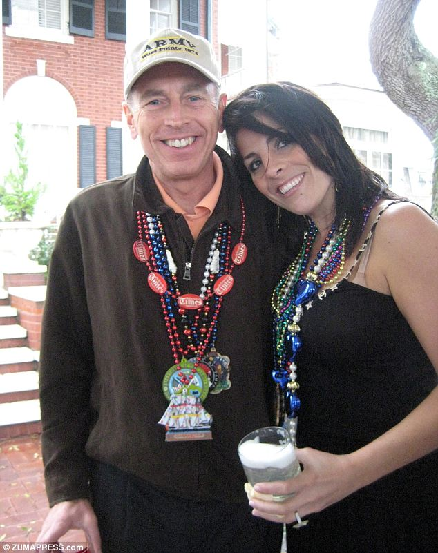 Close ties: Kelley (right) exchanged emails and IMs with General Petraeus daily but those were on his official account and were monitored by staff members