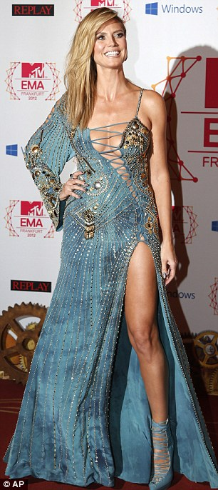 1 of 6 outfits: Supermodel Heidi wore a very risque dress as she arrived on the red carpet at the 2012 MTV European Music Awards