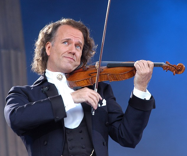 Rise to the top: Andre Rieu astonishing popularity has seen him sell out more venues than Bruce Sprinsteen