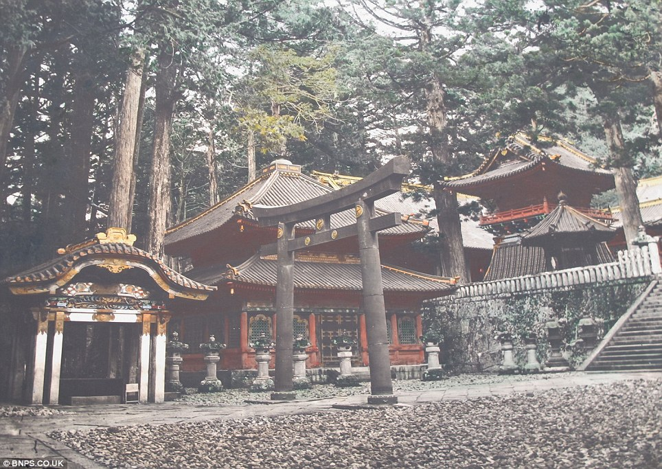 Classic temple: A Buddhist shrine set alone in the mountains