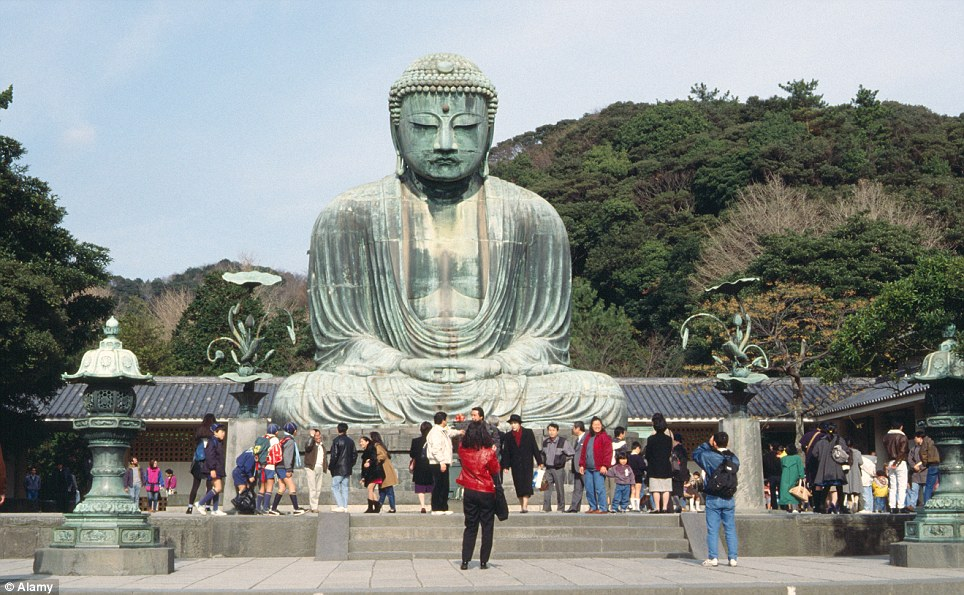 Iconic: Great Buddha Kamakura is approximately 13.35 metres tall and weighs 93 tonnes