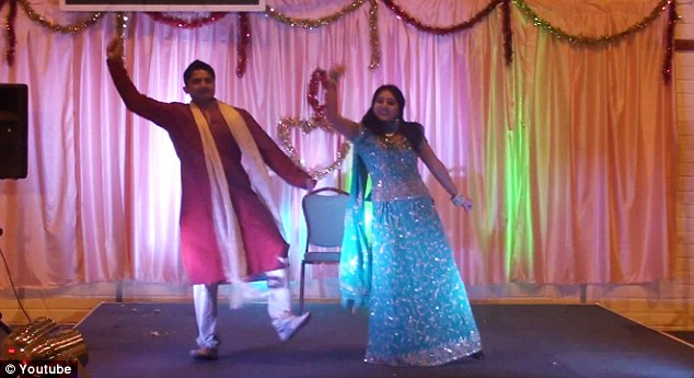 Happy couple: Savita and her husband Praveen dancing at 2010 Diwali festival in Galway, video from youtube