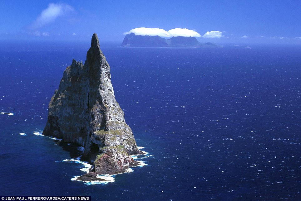 Balls Pyramid: (Lord Howe Island, New South Wales, Australia) The worlds tallest sea stack, at 562 metres formed through processes of coastal geomorphology, which are entirely natural. Time, wind, and water are the only factors involved