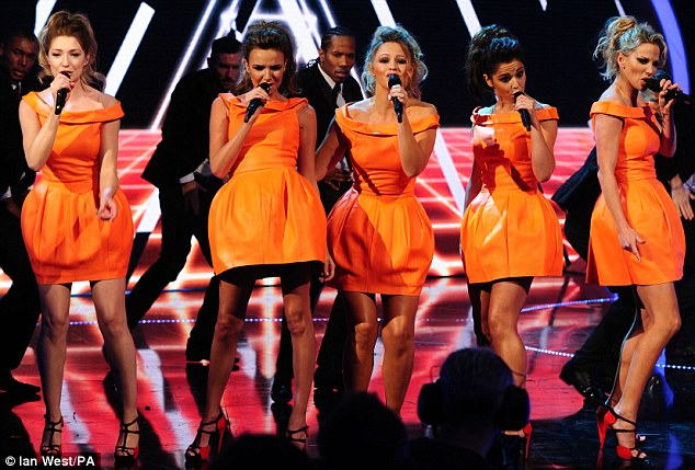 Amber alert: Reunited girl group Girls Aloud perform their new single Something New on Children In Need