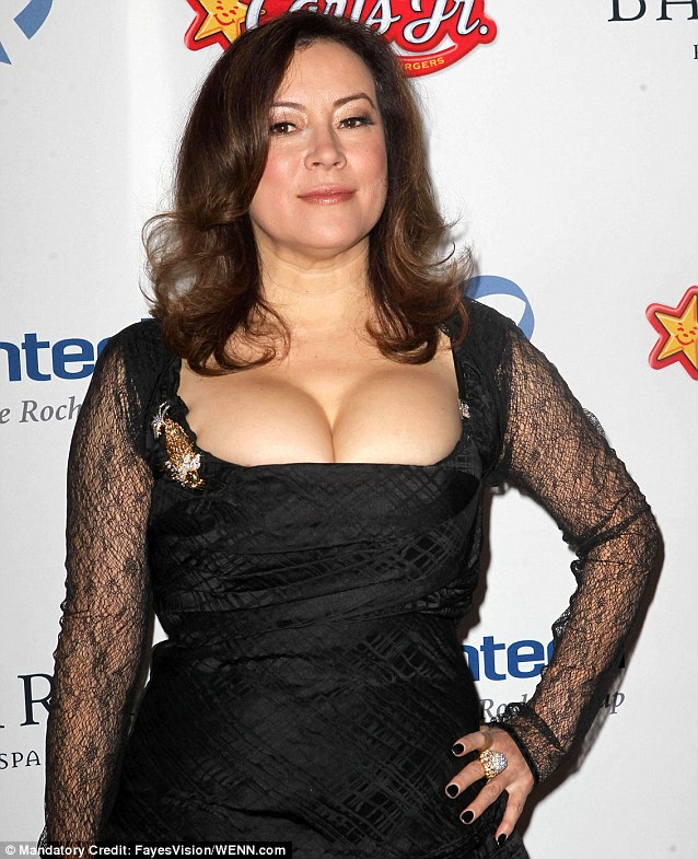 She's got some front: Jennifer Tilly arrived at The Dream Foundation's 11th Annual Celebration of Dreams Gala wearing a daring dress
