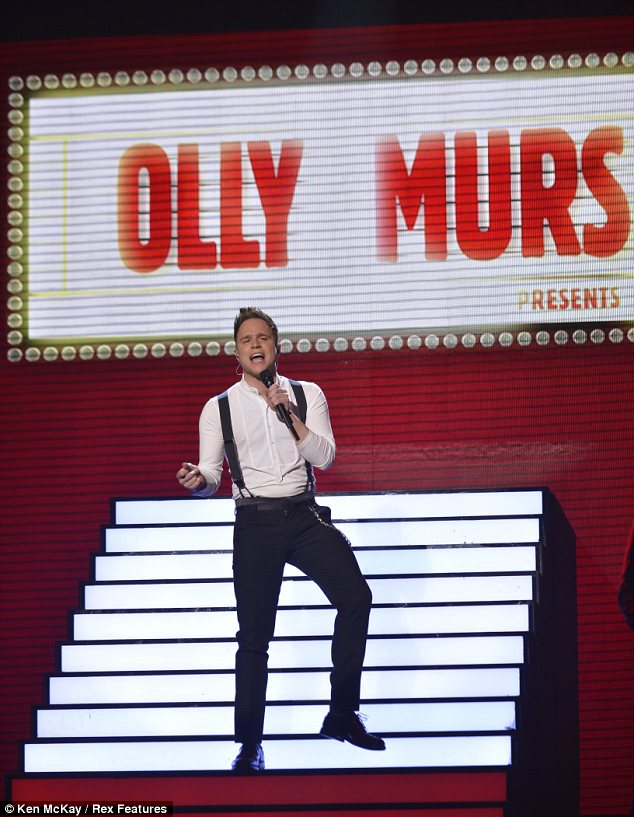 Troublemaker: Olly Murs performed his new single after Alicia