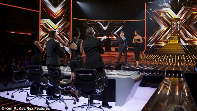 Standing ovation: The X Factor Judge can't hide their joy after Alicia's stellar performance