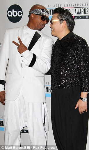Like looking in a mirror: Both MC Hammer and Psy are known for their funny songs with crazy accompanying dance routines