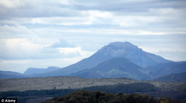 The Pic de Bugarach, south-west France: Online rumours claim that on December 21 the mountain will burst open to reveal an alien spaceship that will rescue those nearby from the apocalypse