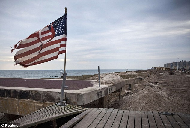 Overwhelmed: Devastation in the Rockaway Beach area of New York in the wake of Superstorm Sandy. Emergency services were woefully unprepared for the storm, it has been alleged